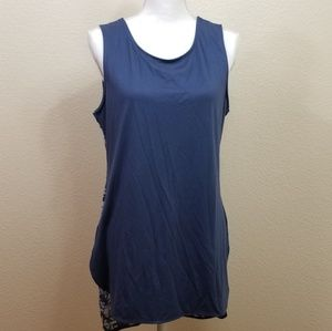Tangerine Blue Gray Athletic Workout Tank Size L